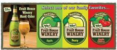 Fruit House Winery Hard Ciders by Uncle John's Cider Mill....a local St. Johns institution!