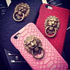 New Fashion China Style Lion Animal Head Applique Design PC Shell Cover For APPLE iPhone 6 6s 6plus Cool Man Exotic Phone Cases