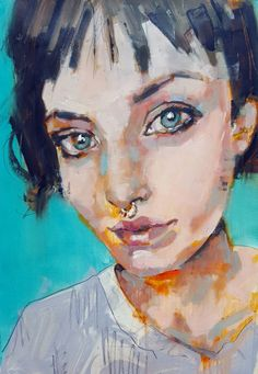"Saatchi Art Artist thomas donaldson; Painting, ""7-20-15 portrait study SOLD"" #art"