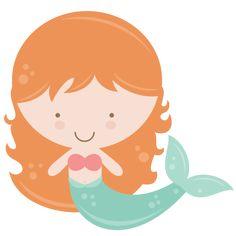 Mermaid SVG  Miss Kate Cuttables - sirène