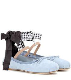 MIU MIU Suede Ballerinas. #miumiu #shoes #flats