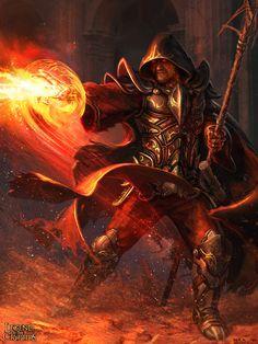 Warlock Art | the warlock by bogdan mrk digital art drawings paintings illustrations ...