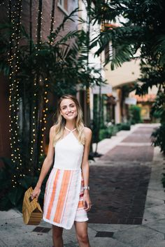 Summer style, halter dress