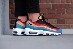 nike air max 95 premium dark cayenne and rio teal nz