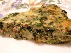 Hamburger (or Sausage) Spinach Quiche (crustless) | The Gluten-Free Homemaker