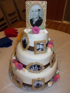 Amber's Birthday Creations: Grandpa's 90th Birthday Cake/Party