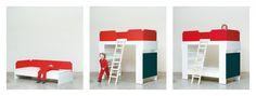 Aus dem Bett wird flugs ein Hochbett mit Bibliothek. Loft, Bed, House, Furniture, Home Decor, Elevated Bed, Kid Furniture, Decoration Home, Stream Bed