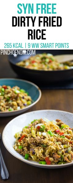 Syn Free Dirty Fried Rice | Pinch Of Nom Slimming World Recipes    265 kcal | Syn Free | 9 Weight Watchers Smart Points