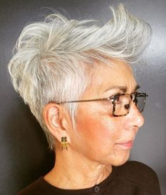 Tapered+Gray+Pixie+Over+50