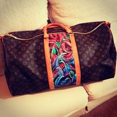 hand painted louis vuitton Keepall OMG