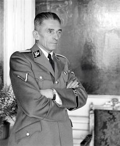 Karl Hermann Frank ( 1898-1946 ) was an SS-Obergruppenführer - and a prominent Sudeten German Nazi official - in Czechoslovakia , prior to and during World War II . He was executed by hanging , for his role in organizing the massacre`s , of the people of the Czech village`s of Lidice and Ležáky