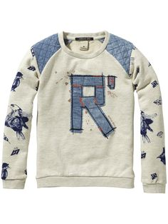 Chique sweater met ronde hals | Sweat | Meisjeskleding bij Scotch & Soda