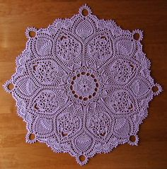 """from the book """"Exquisite Table Toppers"""" by Patricia Kristoffersen - a set on Flickr - photos and completed doilies by Elaine Pawelko"""