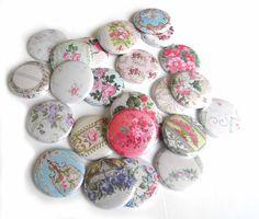 25 Victorian Wallpaper FLAT BACK Buttons