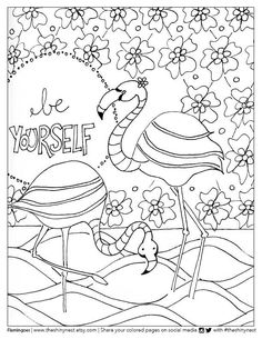 flamingo coloring page free printable coloring video tutorial - Flamingo Coloring Page