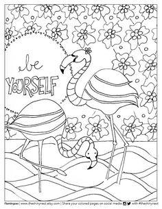 flamingo coloring page free printable coloring video tutorial - Flamingo Coloring Page