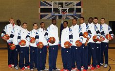 team photos for basketball   Team GB basketball squad: Luol Deng heads up men's team for London ...