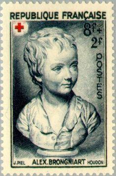 Stamp: Portrait after Houdon Brongniart child (France) (Red Cross) Yt:FR 876,Mi:FR 894,Sn:FR B255