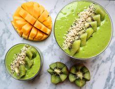 Bilderesultat for grønn smoothie skål