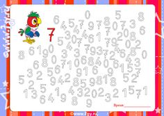 Numbers Preschool, Kindergarten Worksheets, Worksheets For Kids, Preschool Activities, Craft Club, Math For Kids, Math Classroom, Teaching Kids, Cute Drawings
