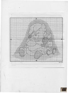 Borduurpatroon Winnie the Pooh kruissteek *Cross Stitch Pattern ~Bedtijd *Bedtime 2/4~