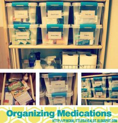 Organizing: Medications (Pinch A Little Save A Lot). Medicine Cabinet ...
