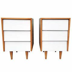 Pair of Florence Knoll Night Stands, Knoll, 1947