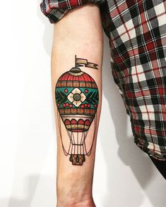oldschool tattoovorlagen By friedrich_heyden Old Style Tattoos, Key Tattoos, Badass Tattoos, Cover Up Tattoos, Small Tattoos, Sleeve Tattoos, Air Balloon Tattoo, Tattoo Band, Tatuajes Tattoos