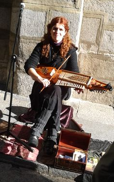 Nyckelspel, nickelharpa, nyckelharp - my darling daughter wanted to play the violin for years. Finally, one Christmas, I gave her a violin. Unfortunately, because of a brain tumor (benign), she was unable to sight down the strings w/o them appearing to criss-cross one another. We had to return the instrument.I wonder if she could learn to play a nickelharpa instead? Replace one dream with another? Hmmm...