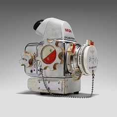 Nasablad (2008) | Artist: Tom Sachs | Details: NASA modified Hasselblad 500C/M, plywood, synthetic polymer paint