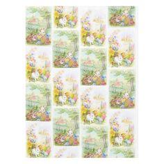 Cute Easter bunnies table cloth
