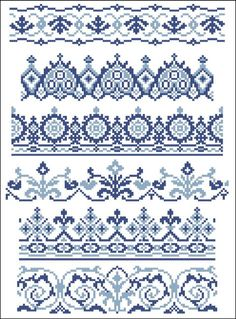 Vector black and red cross stitch ethnic borders. Description from pinterest.com. I searched for this on bing.com/images