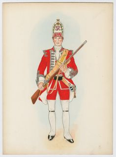 British; 14th Foot, grenadier, 1751 by A.H.Bowling