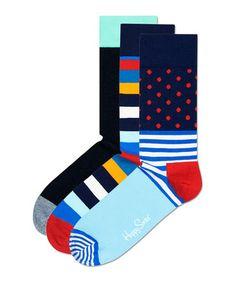 3 polka dot & stripe cotton blend socks Sale - Happy Socks Sale