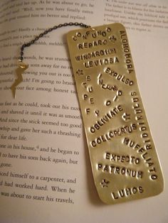 Harry Potter Spells Bookmark