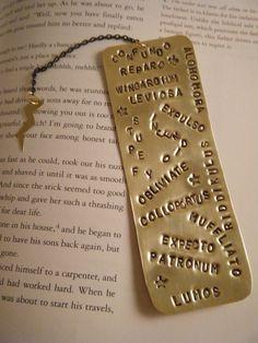 Harry Potter Spells Bookmark