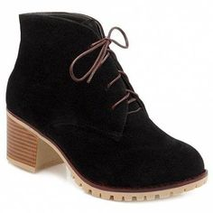 ed590f2954  Highheelboots Chunky Heel Ankle Boots