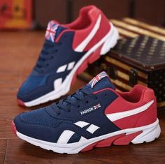 Men Casual Shoes - Mens Trainers - Breathable Walking Shoes