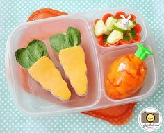 Cute and easy Easter / Spring lunch box idea | packed in @EasyLunchboxes containers