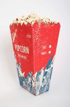 Popcorn Box Packaging by designer Seb Hepplewhite