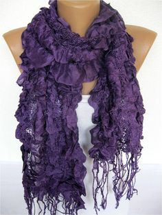Scarf Trend Scarf Fashion Scarf  ShawlsScarvesGift by SmyrnaShop. You can even by things from Etsy on BlissList. #purple #onlineshopping #gifts  https://itunes.apple.com/us/app/blisslist-easy-shopping-gifting/id667837070
