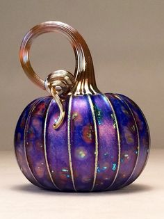 Jack Pine Hand Blown Glass Pumpkin Small Medium by jackpinestudios
