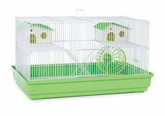 Deluxe Hamster & Gerbil Cage - Lime Green