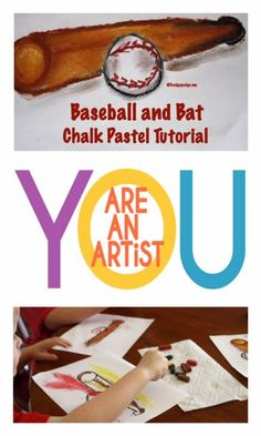 With a nod toward spring time sports and also painting a pastel that would be appreciated by boys and girls alike, my students and I have enjoyed working on a baseball and bat pastel tutorial! Baseball Painting, Baseball Art, Spring Art, Spring Time, Chalk Pastels, Art Tutorials, Art Lessons, Boys, Girls