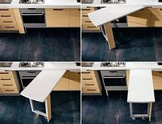 Kitchen Furniture Design Space Saving ` Kitchen Furniture - Real Time - Diet, Exercise, Fitness, Finance You for Healthy articles ideas Kitchen Room Design, Diy Kitchen, Kitchen Interior, Kitchen Decor, Smart Kitchen, Kitchen Tables, Kitchen Ideas, Kitchen Cabinets, Trendy Furniture