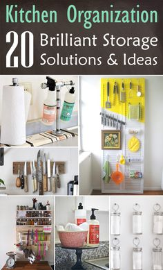 Kitchen Organization: 20 brilliant storage solutions and ideas - Home Page Kitchen Organization Pantry, Budget Organization, Home Organisation, Household Organization, Kitchen Storage, Diy Kitchen, Rainbow Kitchen, Organizing Your Home, Organizing Ideas