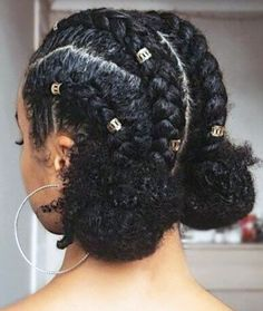 Natural Braided Hairstyles, Natural Hair Braids, Girls Natural Hairstyles, Braided Hairstyles For Black Women, Natural Hair Styles For Black Women, Short Hair Styles Easy, Braids For Short Hair, Cute Hairstyles For Short Hair, Medium Hair Styles