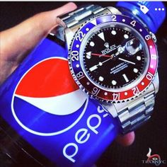 "The Rolex GMT Master, nicknamed ""The Pepsi"""