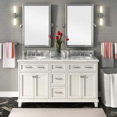 "Carolina 60"" White Double Sink Vanity by Lanza"
