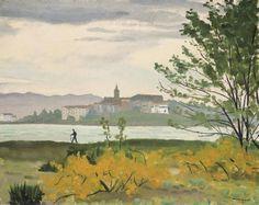 Albert Marquet - Vue d'Hendaye, le marcheur (1926)